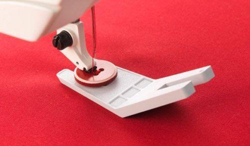 Pfaff sewing machines 9 mm open toe metal appliqué foot