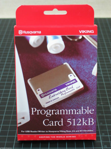 Programmable Embroidery Stitch Card