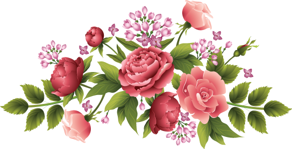 peonies and roses is a downloadable machine embroidery design set