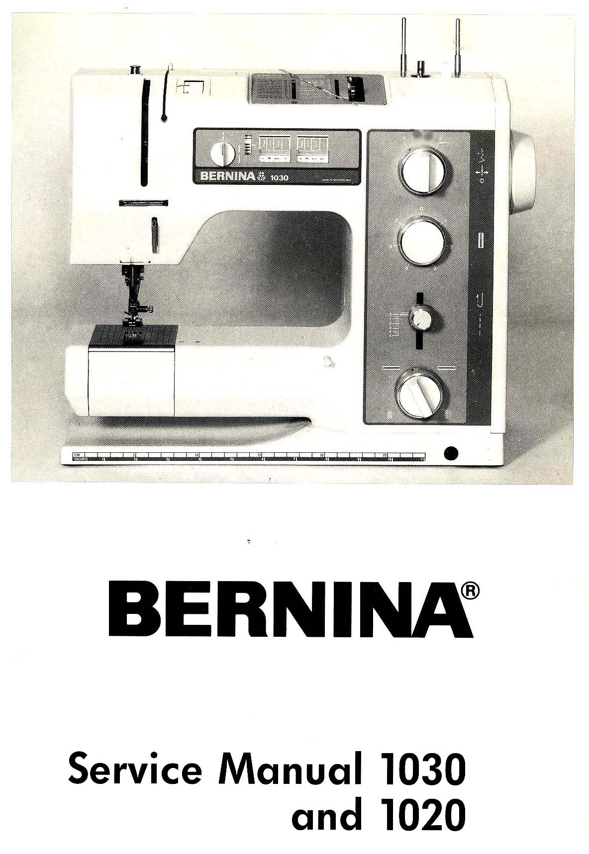 Service Manual For Bernina 1520/30 (Electrical only) Sewing Machine