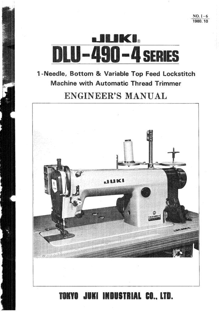 Service Manual Juki DLU 490 4 Sewing Machine Engineer Manual