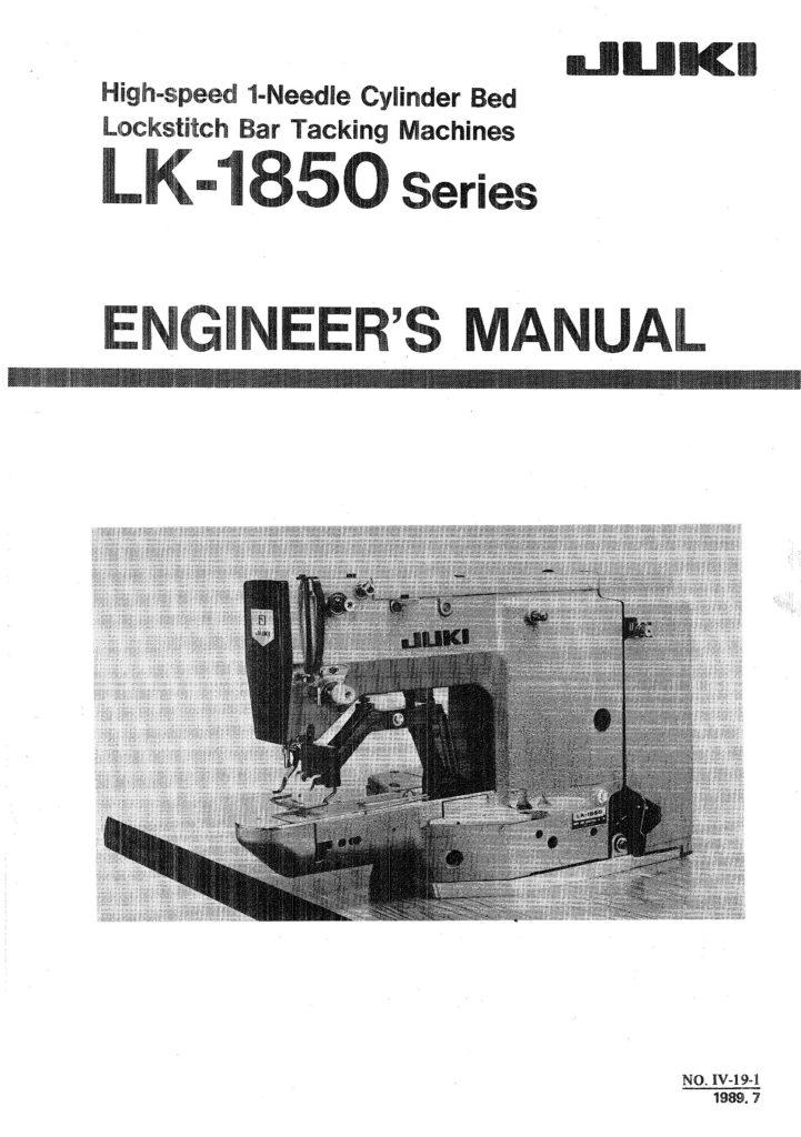 Service Manual Juki LK 1850 Sewing Machine Engineer Manual