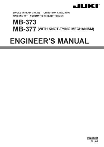 Service Manual Juki MB-373, 377 Sewing Machine