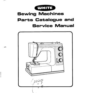 White Service Manuals Archives - The Silk Pincushion