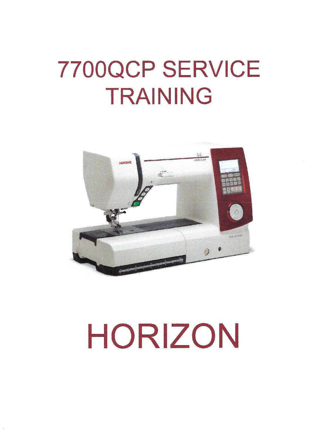 JANOME HORIZON MEMORY CRAFT 7700 QCP INSTRUCTION BOOK Pdf ...